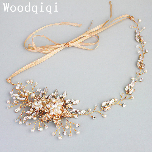 Woodqiqi Bridal Headband Weddings Bridal Headpiece Rhinestone Headband  Crystal Silver Gold Rose Gold 40ba869cd2a
