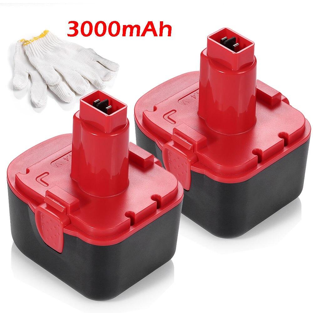 2 pièces Powerextra 3000 mAh batterie Rechargeable pour Lincoln NI-CD batterie 14.4 v pistolet à graisse 1401 1444 1442 puissance Luber