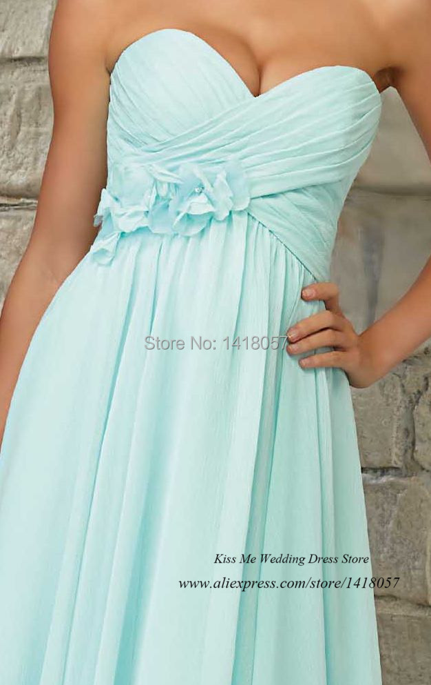 Vestido de Dama de Honra Short Mint Green Bridesmaid Dresses 2015 Chiffon  Knee Length Wedding Guest Wear-in Bridesmaid Dresses from Weddings   Events  on ... 3a2ed3ebf461
