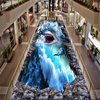 The World Ocean Shark 3D Stereo Outdoor Bathroom Kitchen Wallpaper From The Balcony Board PVC Floor