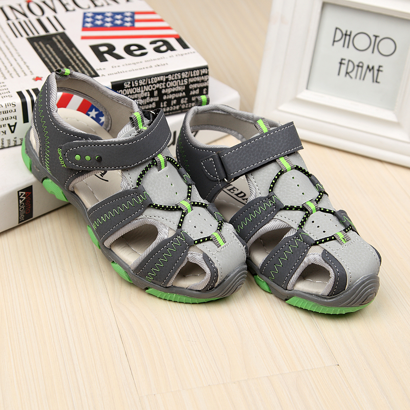 Summer Hollow Anti Slip Beach Boys Sandasl Car Styling Kids Boys Leather Sandals Childre ...