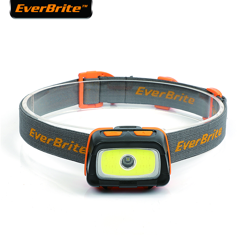Everbrite led farol 3000 lumens multifunções 7 modos de iluminação perfeito para trail running campismo caminhadas