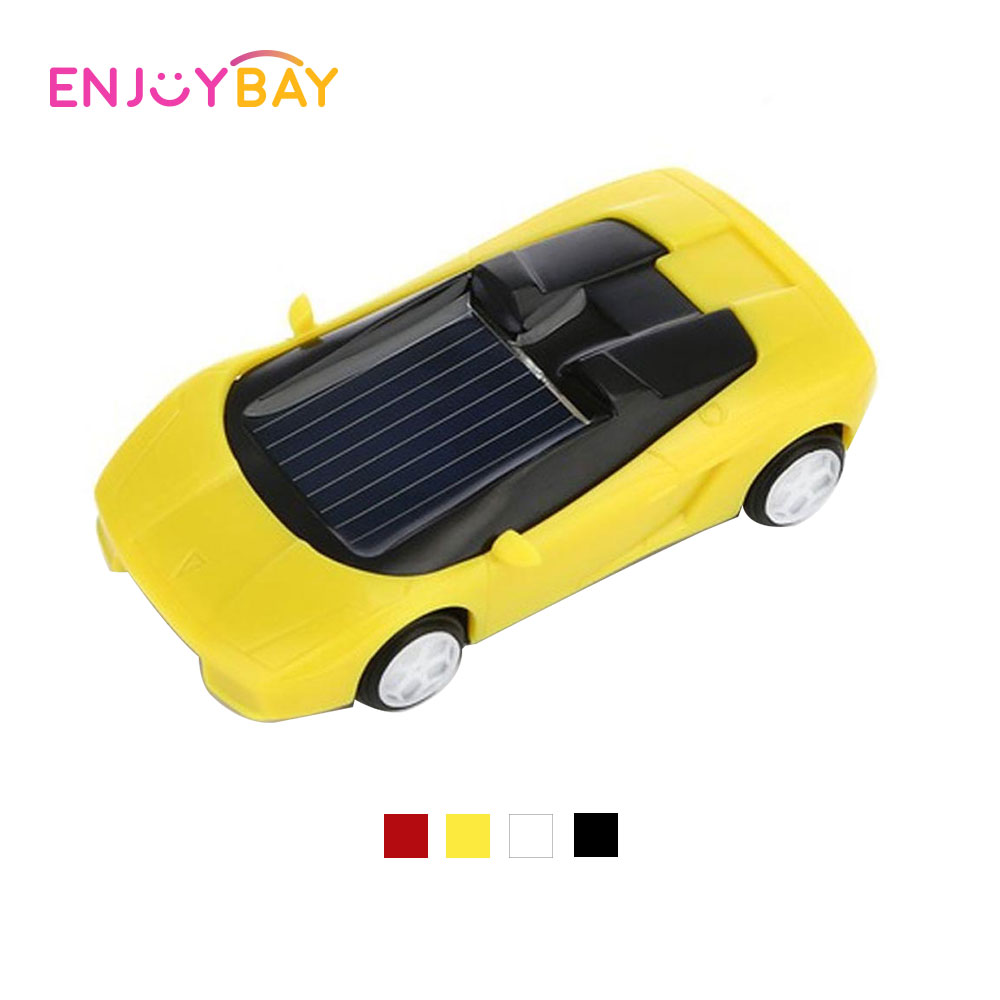Enjoybay Creative Solar Power Car No-toxic Vehicle Toys For Boys Educational Gifts For Kids Portable Mini Solar Car Model Toy