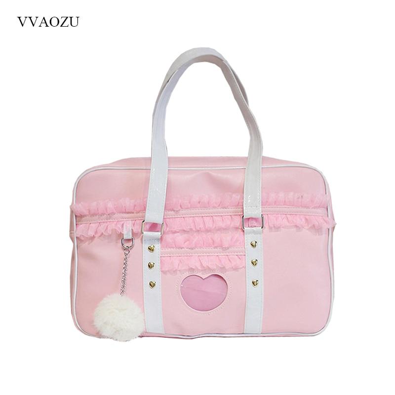 Kawaii Harajuku Pink Travel Shoulder Bag  1