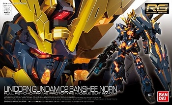 Bandai Gundam 1/144 RG UNICORN GUNDAM 02 BANSHEE NORN Mobile Suit Assemble Model Kits Action Figures Children's toys 1