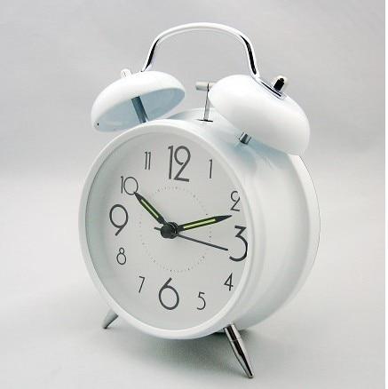 Luminous Alarm Clock Mini Circle Simple Design Table Ring