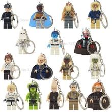 Star Wars Luke jar jar binks Oola Saesee Tiin Figura Keychain Bib Fortuna Thrawn Lando Tarkin Ki Adi Blocos de Construção de Brinquedos Modelo