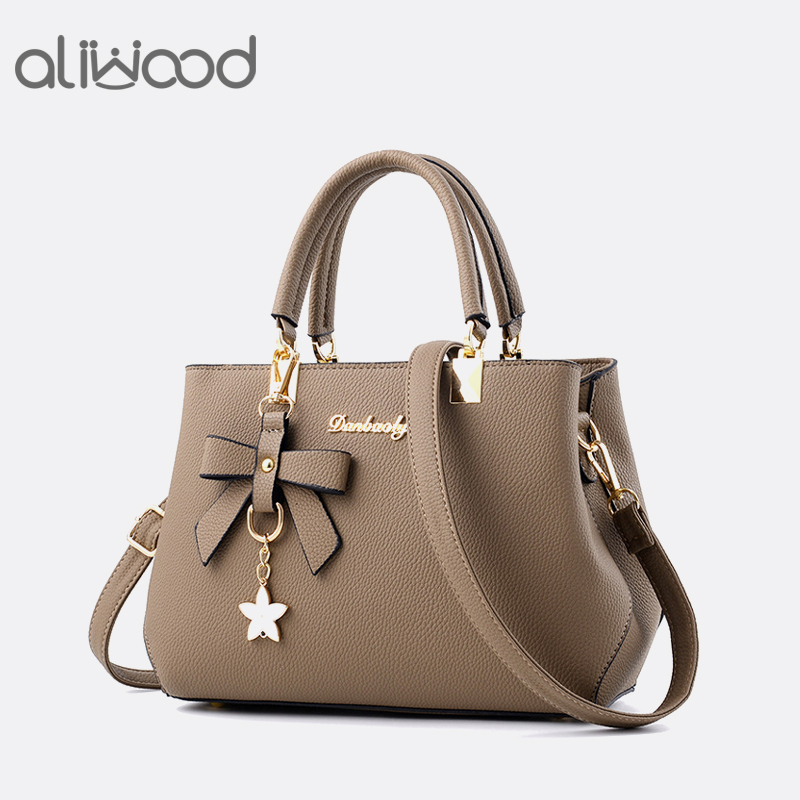 Aliwood Fashion Women's Bags Leather Handbag Sweet Elegant Designer Lady Crossbody Bags Tote Female Shoulder Bag with Bow tie