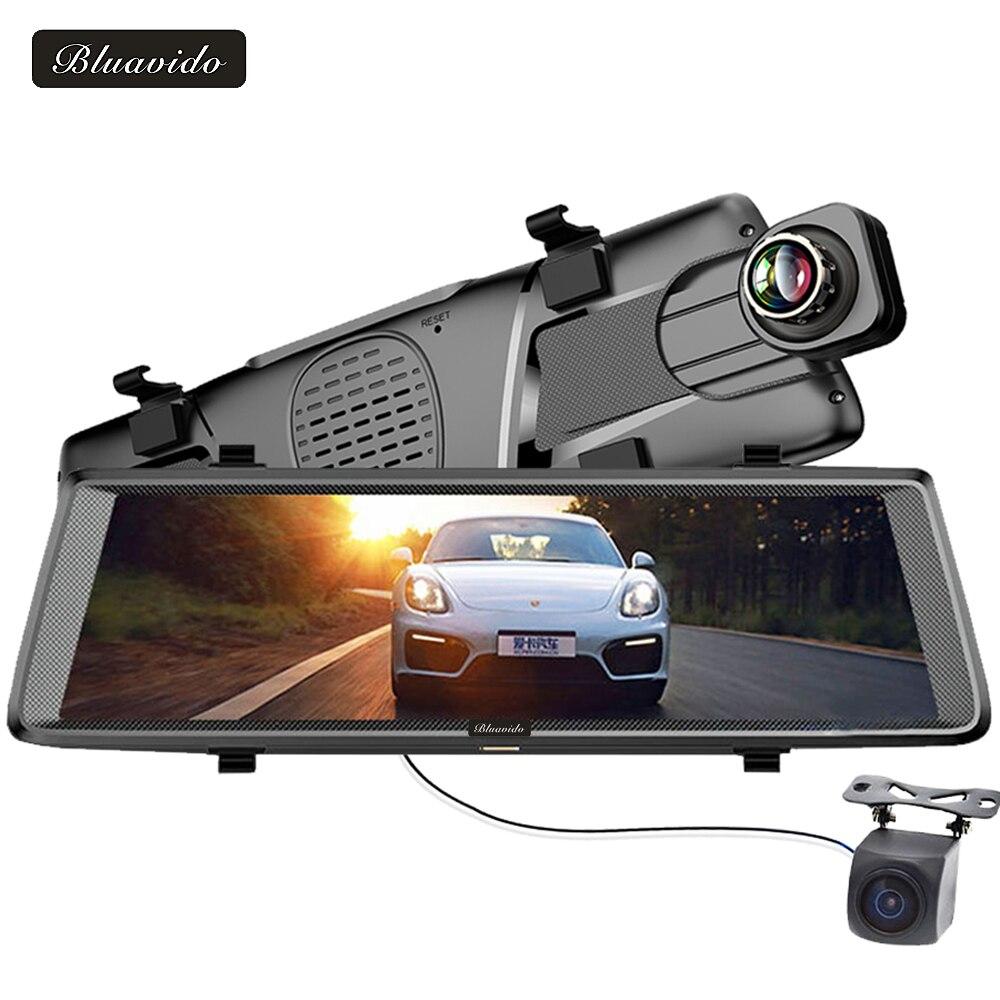 Bluavido 10 4G font b dashcam b font Android mirror dvr GPS navigation ADAS Full HD