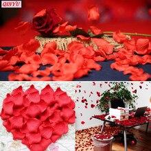 Sky Elina, 1000 шт., искусственные шелковые лепестки роз, сделай сам, искусственные цветы, романтичный цветок, лист для свадебной вечеринки, украшение для дома, 6ZSH012