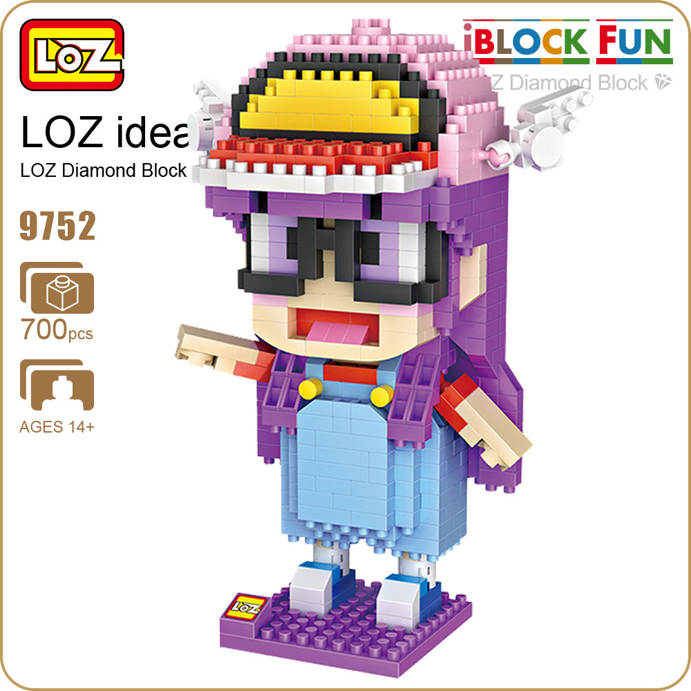 LOZ Diamond Blocks Anime Figurine Girl For Kids Dr Slump IQ Figure Arale Doll Toy Iblock Fun Building Bricks Pixel Toys Kit 9752 arale figure anime cartoon dr slump pvc action figure collectible model toy children kids gift 6 types