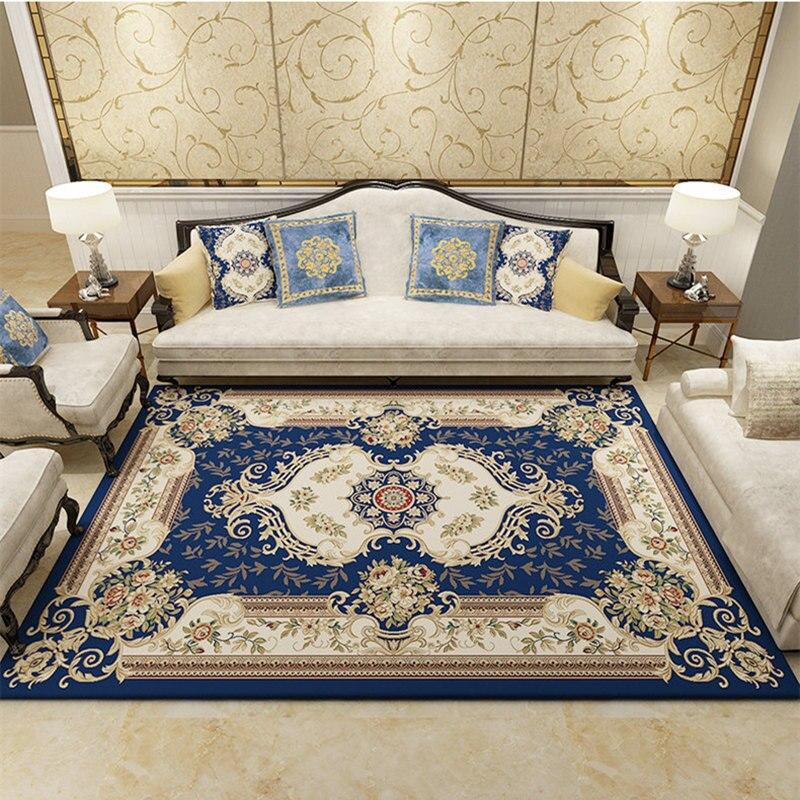Style Palace salon tapis pour décor à la maison chambre chevet épaissir thé Table tapis canapé tapis 80*150 cm tapis de sol doux paillasson - 2
