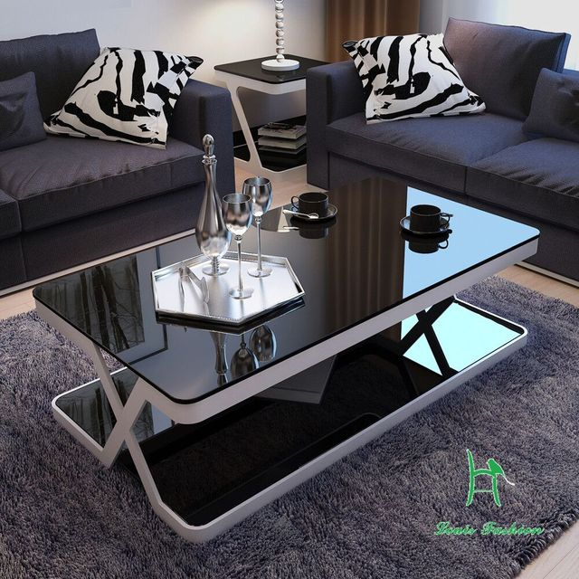 louis fashion modern simple living room end table glass coffee table