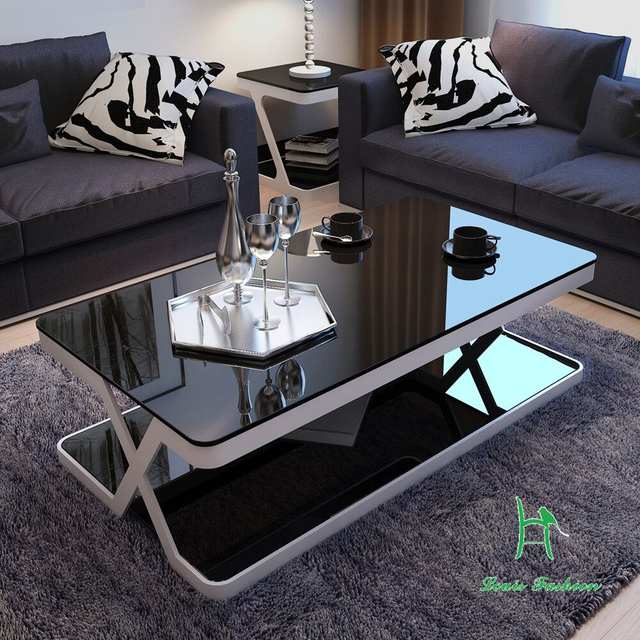 US $299.0 |Louis Fashion Modern Simple Living Room End Table Glass Coffee  Table, Hardware Glass Tea Table, Small Unit, Small Tea Table-in Coffee ...
