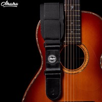 Memory Foam Guitar Strap For Electric Bass Genuine Leather End Guitar Belt