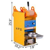 Elektrische Blase Tee Tasse Sealer Kommerziellen Abdichtung Maschine Fit für 75 ~ 90 MM (2 95 ~ 3 74 inch) breite Tasse