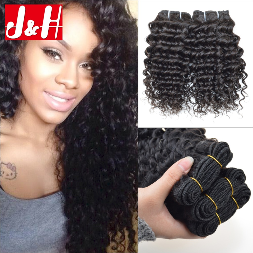 3pcs Lot 7a Indian Virgin Hair Extensions Deep Curly