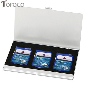 TOFOCO Aluminum Alloy Portable 3 in 1 Aluminum  For SD Card Holder Memory Cards Storage Box Case Holder Protector Easy Carry