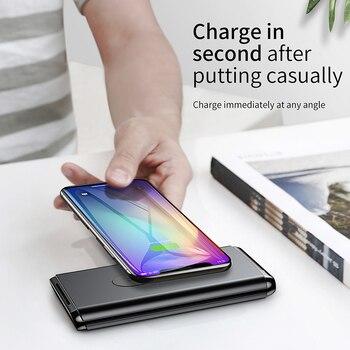 Baseus 10000 mah charge rapide 3.0 batterie externe Qi Sans Fil Chargeur Powerbank Pour iPhone Xiao mi mi USB 1