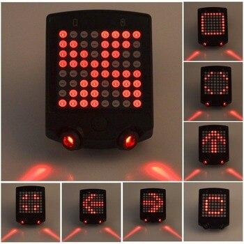 Велосипедный беспроводной лазерный задний фонарь велосипед сигнал поворота пульт дистанционного управления светодио дный Предупреждение...
