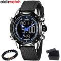Новые мужские часы Aidis Топ бренд двойной дисплей Цифровые Аналоговые электронные часы кварцевые часы 30 м водонепроницаемые спортивные воен...