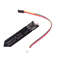 Soil moisture sensor capacitor module for Arduino corrosion resistant 3.3-5.5V wide voltage cable w / gravity