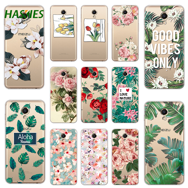 Summer Leaf Cute Cases for Meizu M6S Case Cover Soft Silicone TPU Protective Painting Phone Back Protective for Meizu M6S Case