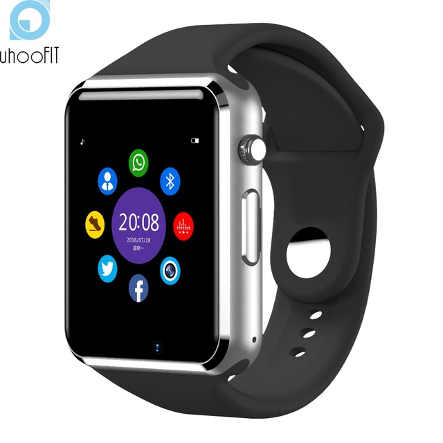 Bluetooth Smart часы A1 Шагомер сна Мониторы сидячий уведомлений SMS напоминание часы Сенсорный экран SmartWatch для andorid