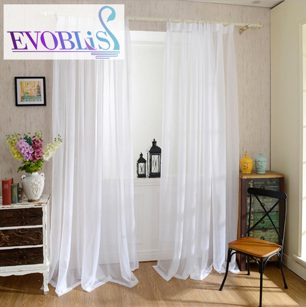 Morden tulle curtains for living room voile curtain for bed room ...