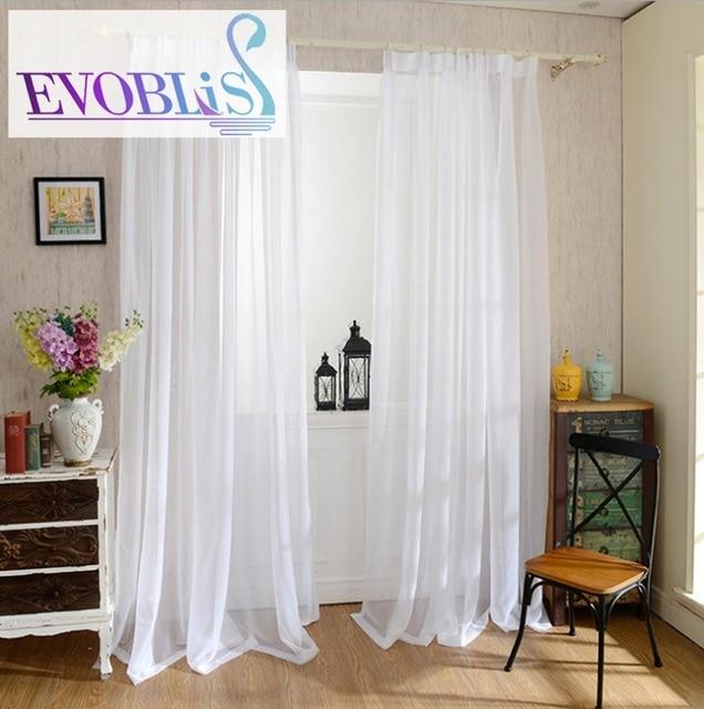 morden tulle rideaux pour salon voile rideau pour chambre coucher blanc rideau voilages. Black Bedroom Furniture Sets. Home Design Ideas