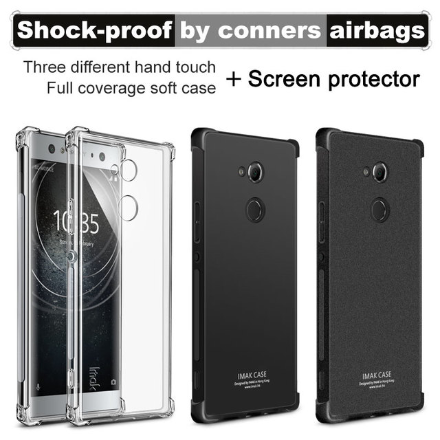timeless design 8dc2b 6d592 US $6.06 5% OFF|Airbag version For Sony Xperia XA2 Ultra Case with Screen  Protector IMAK Soft TPU silicone shell Back Cover For Sony Xperia XA2-in ...