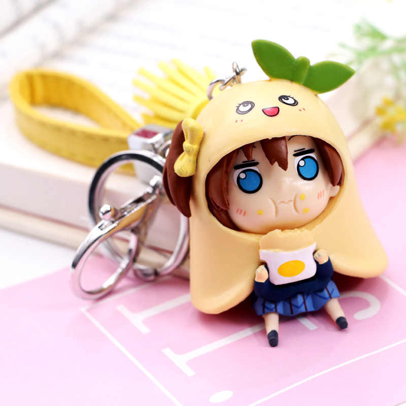 Japanese anime figure 1pcs Doma Umaru Q version keychain action figure