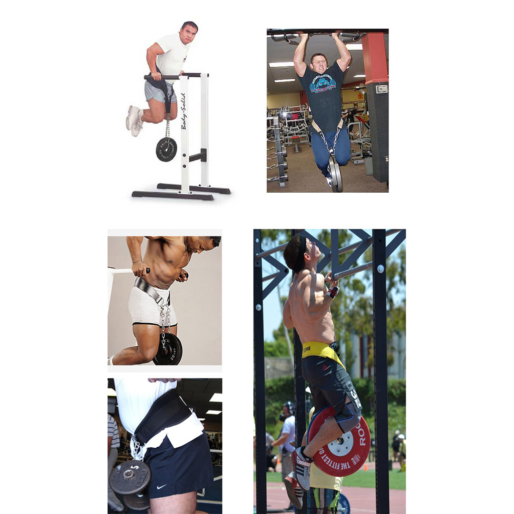 Gym Training Back Dipping Dip Belt Body Building Weight Lifting with Metal Chain Unisex Waist Trimmers Strength Training