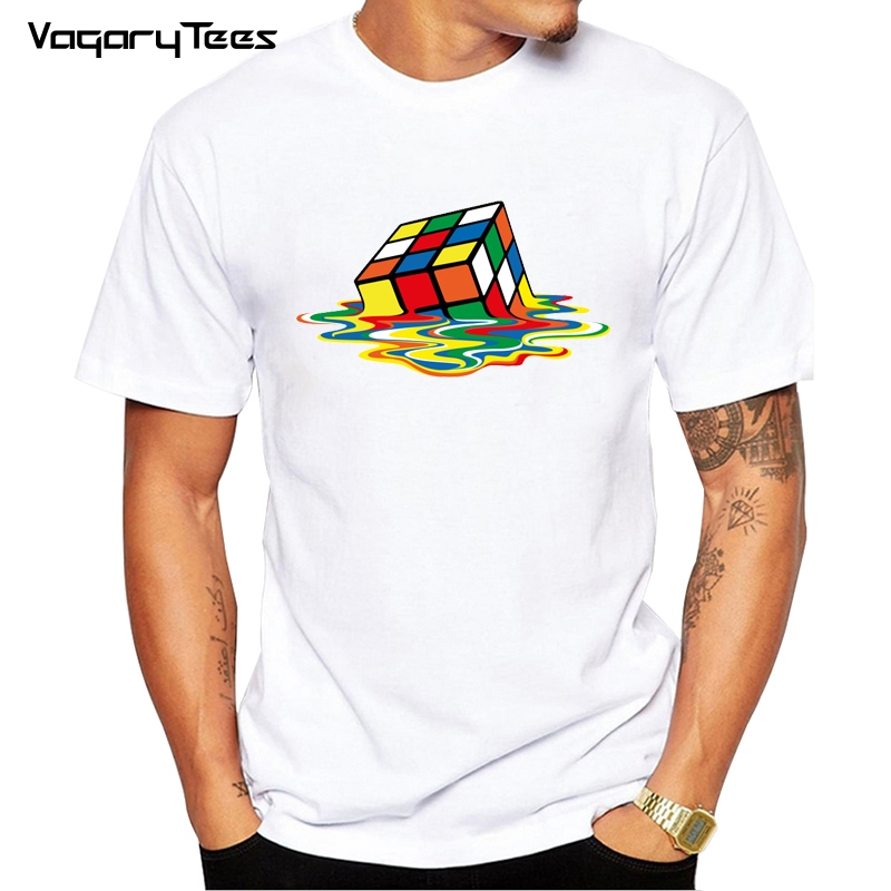 T-shirts Ingenious Cude Box Melting Pyraminx Men Long Sleeve Tops Tees Cool Fashion 100% Cotton Round Collar T-shirt For Men Up-To-Date Styling