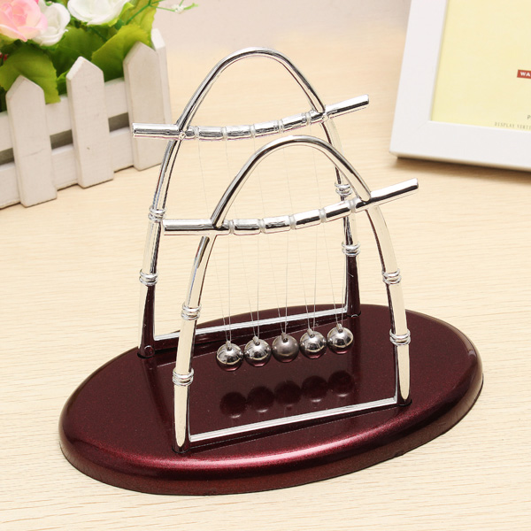 Arc shaped Newton s Cradle Balance Ball font b Science b font Puzzle Fun Desk Toy