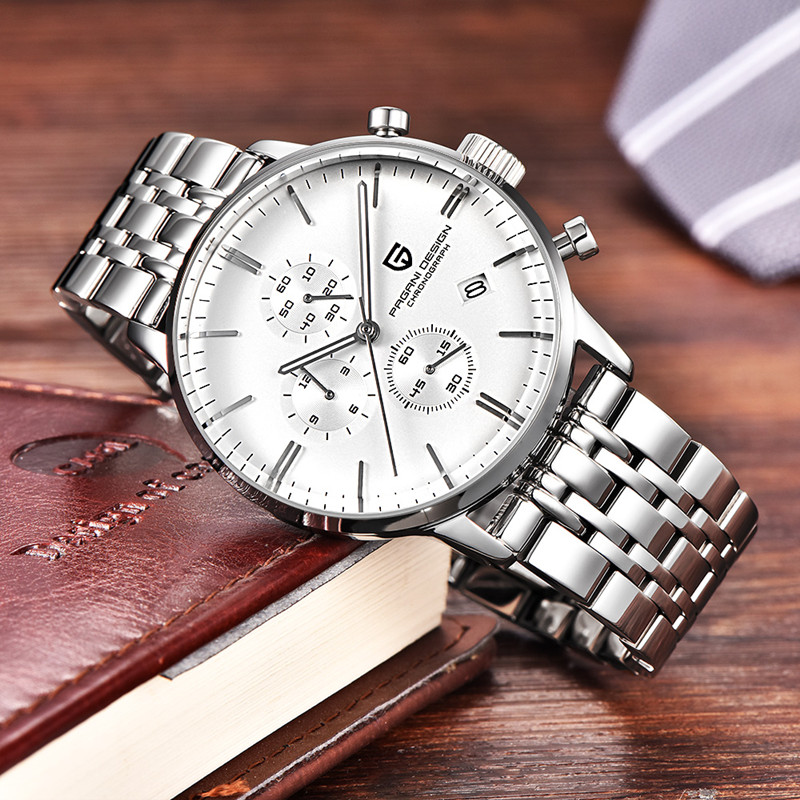 PAGANI DESIGN Business Mens Watches Top Brand Luxury Sport Chronograph Quartz Watch Men Stainless Steel Male Clock montre femme pagani design top luxury brand watches mens stainless steel band fashion business quartz watch wristwatch male