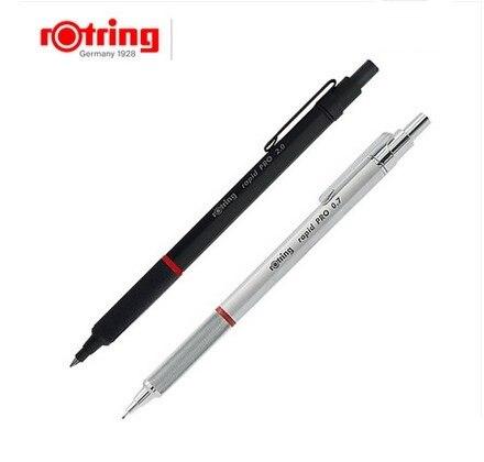 Rotring crayon mécanique Rapid Pro 0.5mm/0.7mm/2.0mm métal argent/noir porte-stylo crayon automatique dessin stylo