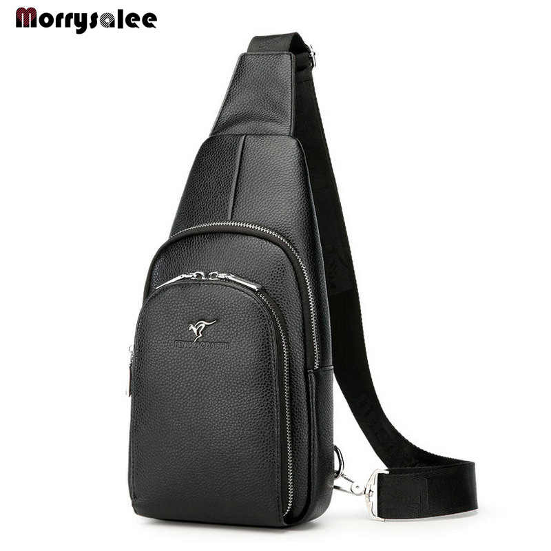 Men Bag General Leather Chest Bag Crossbody Bags for Men Messenger Pack Casual Shoulder Bags Waterproof