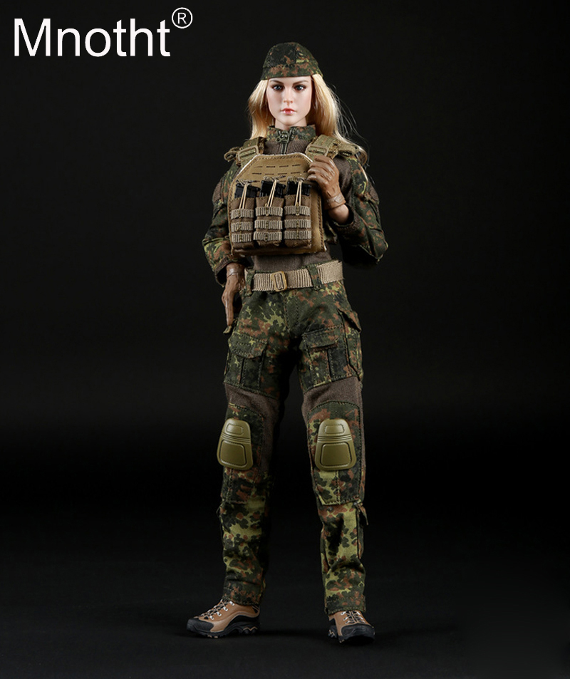 1/6 Scale Female Tactical Shooter Camouflage Suit Set FG016 Combat boot/glove/coat/pants/Belt Clothes For 12in Action Figure Toy 1 6 scale camouflage suit fg015 desert