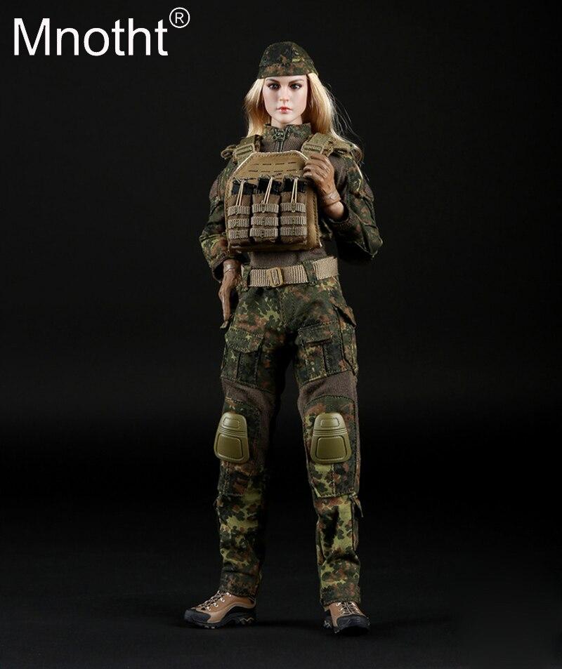 1/6 echelle femme tactique tireur Camouflage costume ensemble FG016 Combat botte/gant/manteau/pantalon/ceinture vêtements pour 12in Action Figure jouet