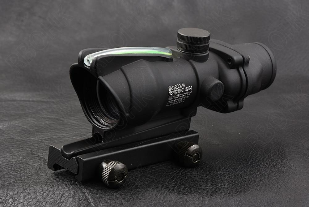 Tactique trijicon ACOG style 1X32 tactique point rouge vue réel vert Fiber optique fusil portée avec 20mm picatinny Rail M2284