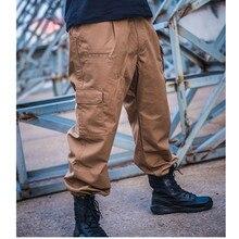 Открытый тренировочный походный водонепроницаемый свободный карман прямые тактические брюки клетчатая ткань водоотталкивающие брюки из рипстопа комбинезоны