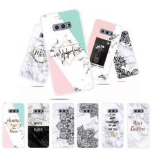 Marble Flower Phone Case For Samsung Galaxy S10 Plus G975F S 10 SM-G973F Soft TPU Back Cover E Silicone