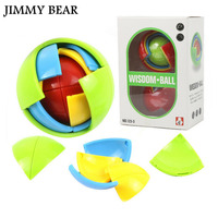 JIMMY BEAR New 3D DIY Magic Intellect Puzzle Maze Ball Brain Teaser Game Educations For Kids