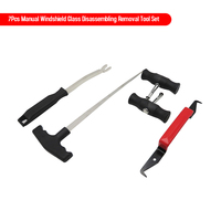 7Pcs Auto Windshield Disassembly Tool Kit Car Nonslip Auto Wire Handles Broach Group Manual Glass Disassembling Removal Tool Set