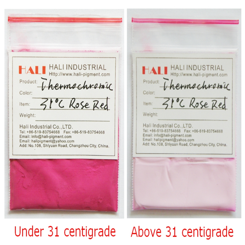 thermochromic pigment temperature sensitive powder hot active powder color 31C rose red 1lot 5kg free shipping