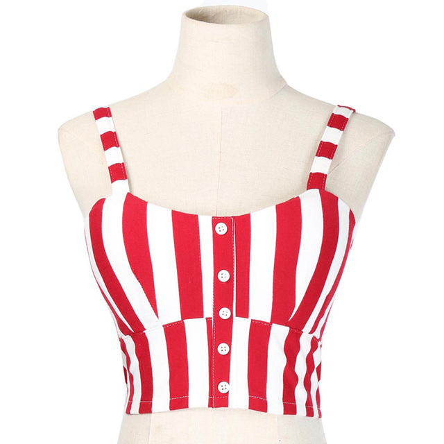 Crop Slimming Movement Striped Women Top 1