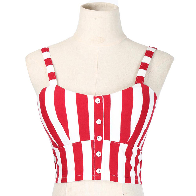 Crop Top Cami Tank Top Women Female Slimming Movement Striped Women Top Sexy Cropped Tops Tank