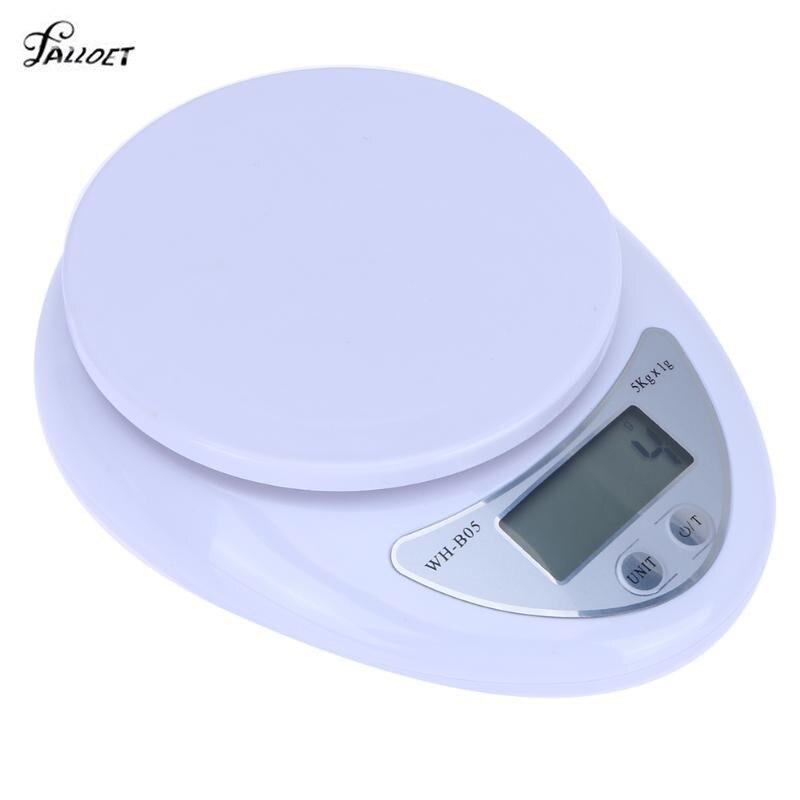 Portátil 5 kg LCD escala Digital Escala electrónica Steelyard alimentación Postal Balance medición de peso balanzas de cocina Libra