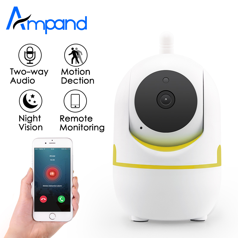 Ampand 720p HD Wireless Security Indoor IP Camera Night Vision support TF card Recording Baby Monitor Wifi home Security camera leshp home security monitor ip camera hd wireless wifi camera surveillance ir night vision baby monitor with mic support tf card